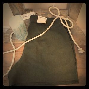 Calvin Klein Linen shorts green